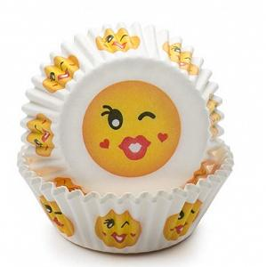 Fox Run Kiss Emoji Baking Cup Set of 50