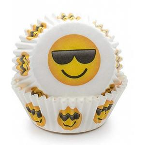 Fox Run Sunglasses Emoji Baking Cup Set of 50