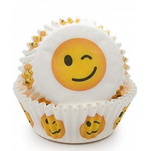 Fox Run Wink Emoji Baking Cup Set of 50