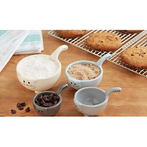Fox Run Ceramic Cat Measuring Cup Set