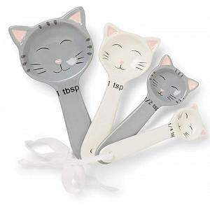 Fox Run Ceramic Cat Measuring Spoon Set