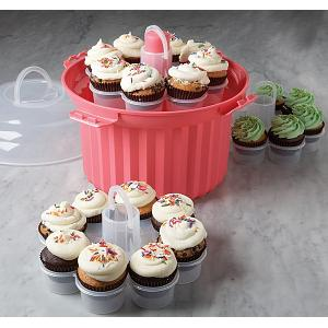 Fox Run Pink Cupcake Holder Carousel