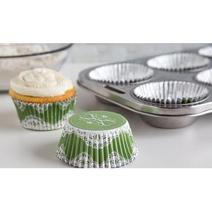 Fox Run Elegant Lace Foil Lined Baking Cup Set of 24
