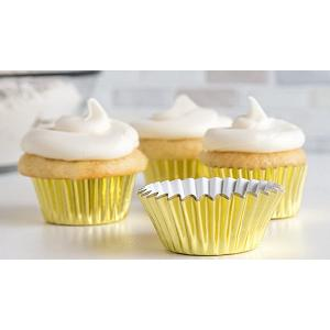 Fox Run Gold Foil Mini Baking Cup Set of 48