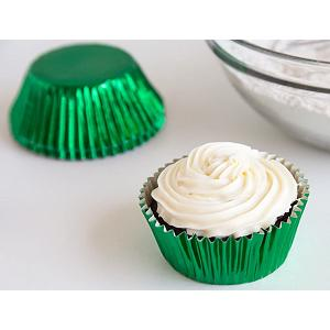 Fox Run Green Foil Baking Cup Set of 32