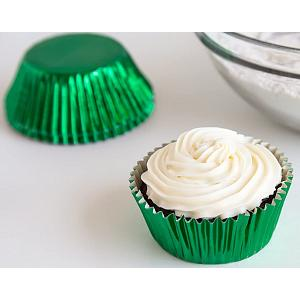 Fox Run Green Foil Mini Baking Cup Set of 48