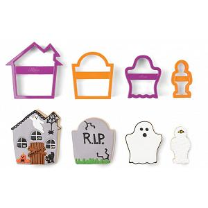 Fox Run Haunted House Halloween Cookie Cutter Set