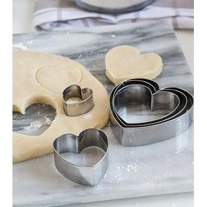 Fox Run Heart Cookie Cutter Set