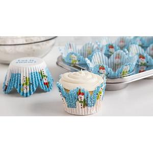 Fox Run Let It Snow Tulip Baking Cup Set of 24