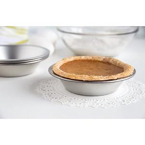 Fox Run Tinplated Steel Set of 4 Pie Pans 5 Inch