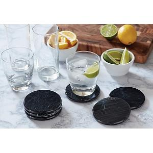 Fox Run Black Marble Coaster Set of 6