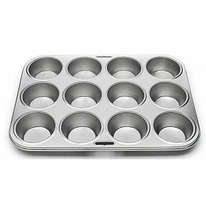 Fox Run Tinplated Steel Muffin Pan