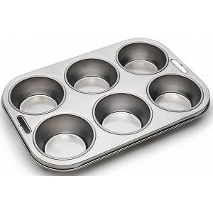 Fox Run Stainless Steel 6-Cup Muffin Pan