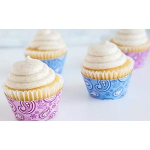 Fox Run Paisley Pink & Blue Cupcake Wrap Set of 12