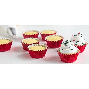 Fox Run Red Foil Mini Baking Cup Set of 48