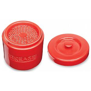 Fox Run Red Porcelain Grease Container