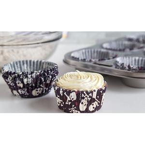 Fox Run Skull & Roses Baking Cup Set of 50