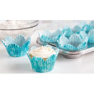 Fox Run Snowy Day Tulip Baking Cup Set of 24