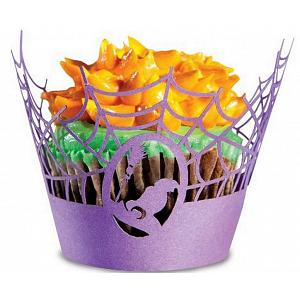 Fox Run Halloween Spider Web Cupcake Wrap Set of 12