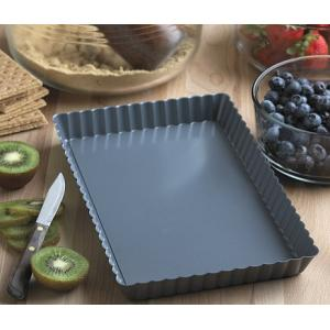 "Fox Run 11"" x 7"" Loose Bottom Tart / Quiche Pan"