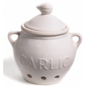 Fox Run White Ceramic Garlic Keeper