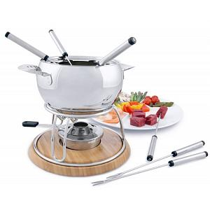 Swissmar Geneva 11-pc Stainless Steel Fondue Set