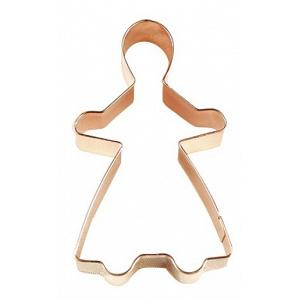 "Fox Run 3"" Copper Gingerbread Girl Cookie Cutter"