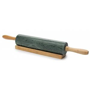 Fox Run Green Marble Rolling Pin 10""
