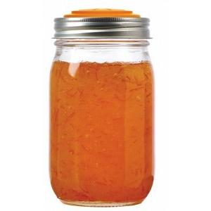 Jarware Set of 4 Orange Mason Jar Lid