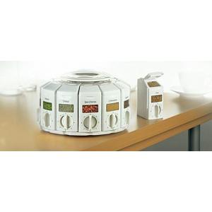 KitchenArt White Select-A-Spice Auto-Measure Spice Carousel