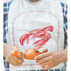 Fox Run Set of 4 Disposable Lobster Bibs