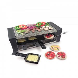 Swissmar 8 Person Locarno Pizza Raclette Grill w/ Granite Stone