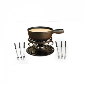 Swissmar Lugano Black Cheese Fondue Set