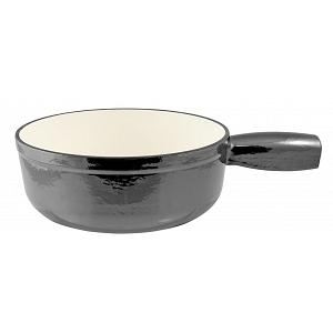 Swissmar Metallic Black Lugano Cast Iron Fondue Pot