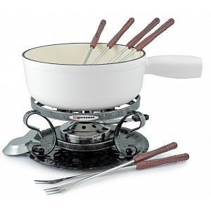 Swissmar White Matte Lugano Cheese Fondue Set