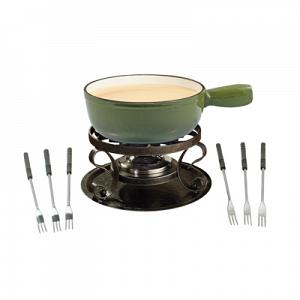 Swissmar Lugano Green Cheese Fondue Set