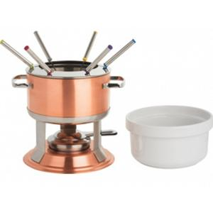 Trudeau Lumina 3 in 1 Copper Fondue Set