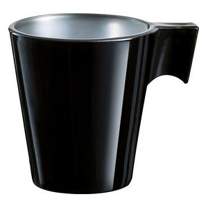 Trudeau Luminarc Black Flashy Espresso Cup