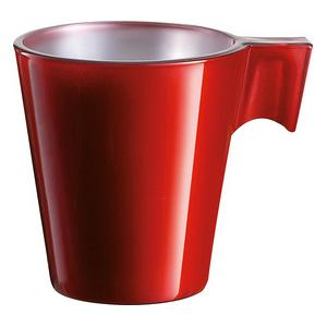Trudeau Luminarc Red Flashy Espresso Cup