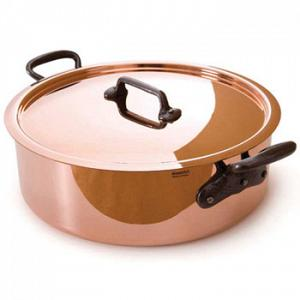 Mauviel M'heritage M'250 Copper Saute / Rondeau Pan with Lid 4.7