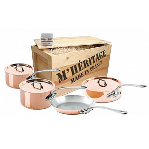Mauviel M'heritage M'150 7pc Copper Cookware Set