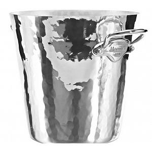 Mauviel M'30 Hammered Aluminum Polished Champagne Bucket