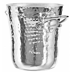 Mauviel M'30 Hammered Aluminum Polished Ice Bucket