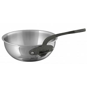 Mauviel M'cook C2 Stainless Steel 3.2L Curved Splayed Saute Pan