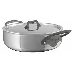 Mauviel M'cook C2 3L Stainless Steel Rondeau Saute Pan with Lid