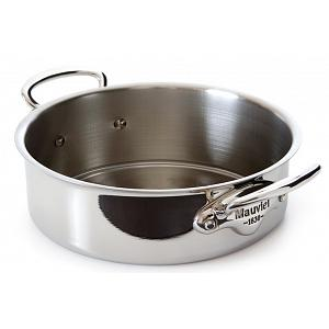 Mauviel M'cook 3L Stainless Steel Rondeau Saute Pan with Lid