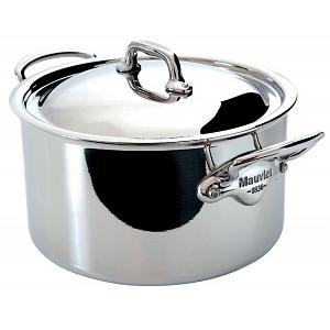 Mauviel M'cook 5.7L Stainless Steel Stew Pan with Lid