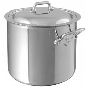 Mauviel M'cook 9.2L Stainless Steel Stock Pot with Lid