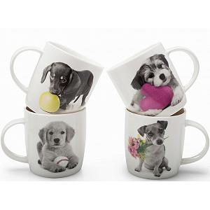 BIA Cordon Bleu Puppy Love Mug Set of 4