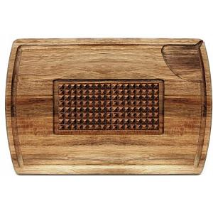 Natural Living Acacia Wood Carving & Cutting Board